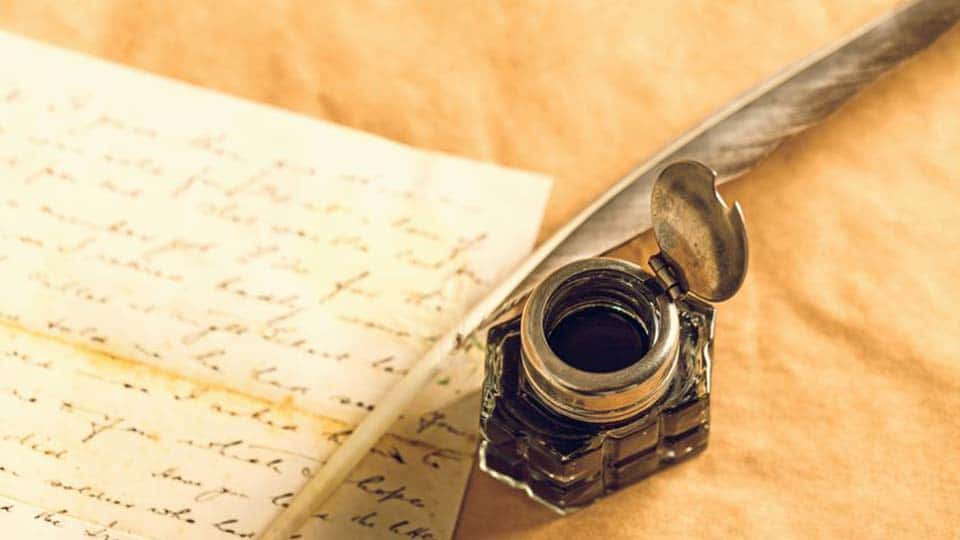 A Case for a Quill and Ink Pot